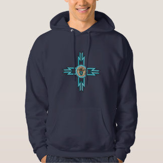 Turquoise Bear Paw Native Adult Hooded Sweatshirt