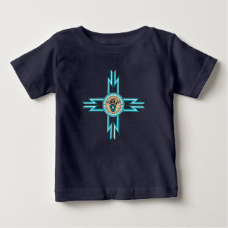 Turquoise Bear Paw Native American Baby Tshirt
