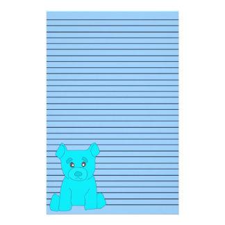 Turquoise Bear Stationery