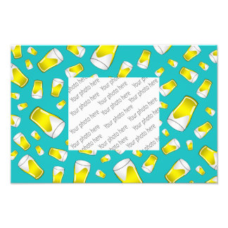 Turquoise beer photographic print