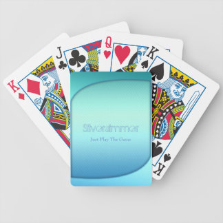 turquoise bicycle playing cards