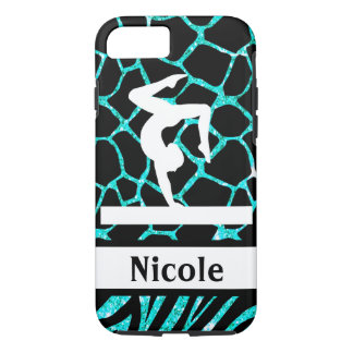 Turquoise Black Gymnastics Cell Phone Case