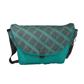 Turquoise-black-messenger-bag Courier Bag