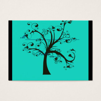 Turquoise & Black Stylized Tree Wedding