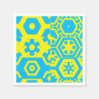 Turquoise Blue Abstract 4Jojo Paper Serviettes