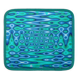 turquoise blue abstract iPad sleeves
