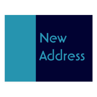 turquoise blue Address Change Postcard