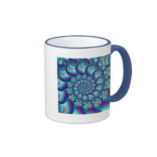 Turquoise Blue Balls Fractal Pattern Coffee Mug