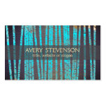 Turquoise Blue Bamboo Nature Health Spa Wood Pack Of Standard Business Cards