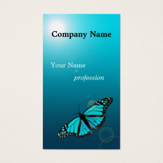 Turquoise Blue Butterfly Profession Business Card