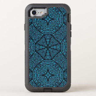 Turquoise Blue Cheetah Abstract OtterBox Defender iPhone 7 Case