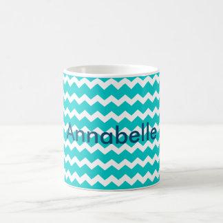 Turquoise Blue Chevron Coffee Mug