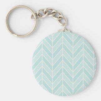 turquoise blue chevron key ring