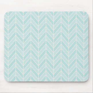 turquoise blue chevron mouse pad