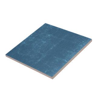 Turquoise Blue Concrete Cracks Textured Pattern Ceramic Tile