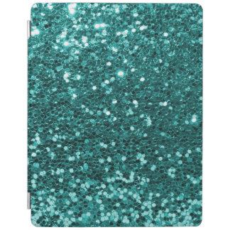 Turquoise Blue Faux Glitter Teal Aqua iPad Cover