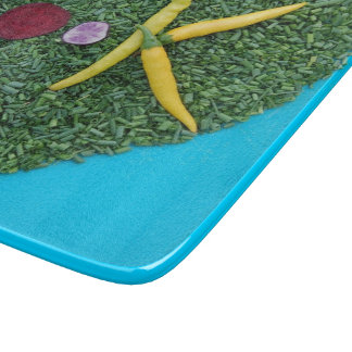 Turquoise blue foodie gift cutting board