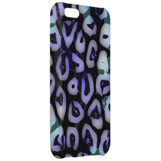 Turquoise Blue Glowing Cheetah iPhone 5C Cases