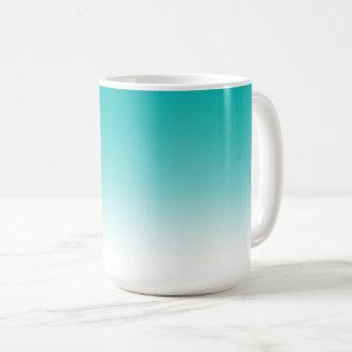 Turquoise Blue Gradient Color Ombre Mug