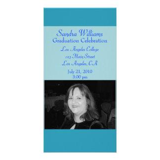 turquoise blue graduation photo cards