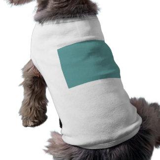 Turquoise blue-green bold doggie tshirt