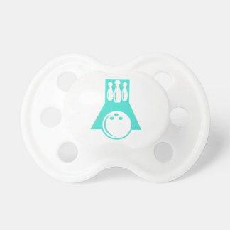 Turquoise; Blue Green Bowling Pacifier