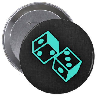 Turquoise, Blue-Green Casino Dice Pins