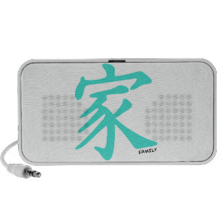 Turquoise, Blue-Green Chinese Family Character Travel Speakers