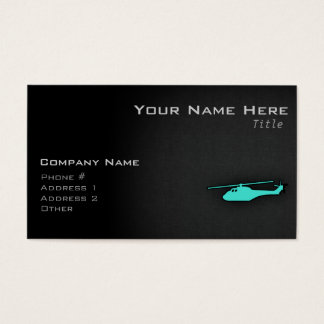 Turquoise; Blue Green Helicopter Business Card