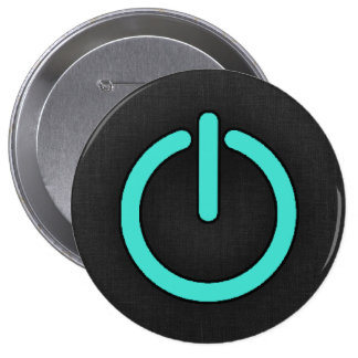 Turquoise Blue-Green Power Button
