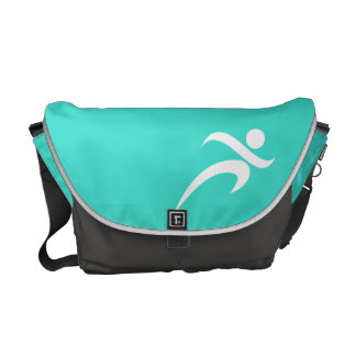 Turquoise; Blue Green Running Commuter Bags