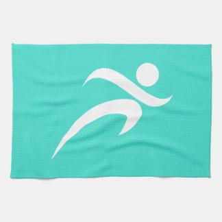 Turquoise; Blue Green Running Tea Towel
