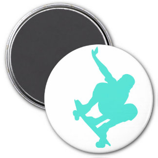 Turquoise; Blue Green Skater Magnets
