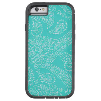 Turquoise blue henna vintage paisley girly floral tough xtreme iPhone 6 case
