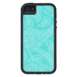 Turquoise blue henna vintage paisley girly floral iPhone 5 case