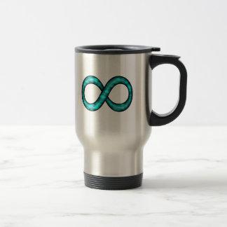 Turquoise Blue Infinity Symbol Mug