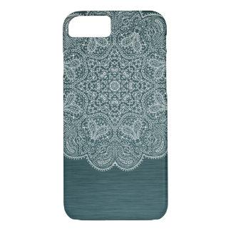 Turquoise Blue Intricate Mandala iPhone 7 Case