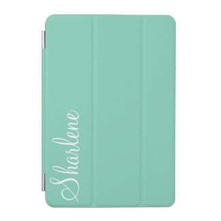 Turquoise Blue monogram iPad iPad Mini Cover