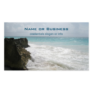 Turquoise Blue Ocean with Foamy Waves Seascape Pack Of Standard Business Cards