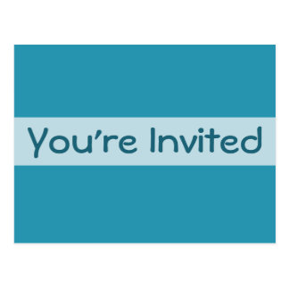turquoise blue Party Invitations Postcard