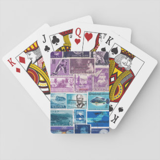 Turquoise Blue Purple Playing Cards, Travel Gift Poker Deck