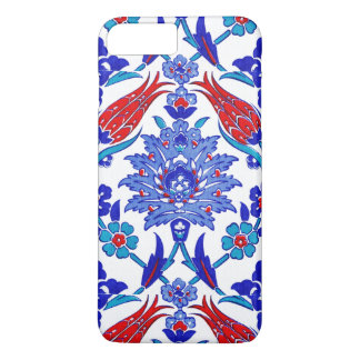 Turquoise Blue Red Ancient Turkish Floral Tile iPhone 7 Plus Case