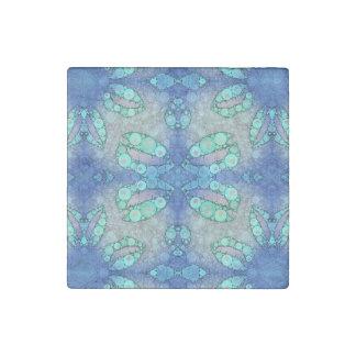 Turquoise Blue Sassy Lips Stone Magnet
