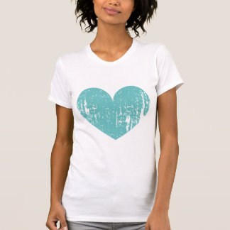 Turquoise blue vintage heart tshirt for bridesmaid