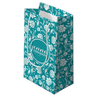 Blue Damask Gift Bags | Zazzle.com.au