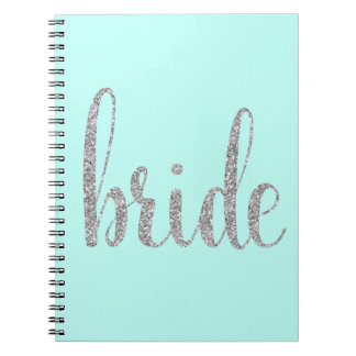Turquoise bride notebook