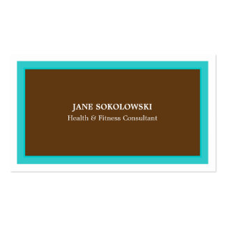 Turquoise & Brown  Simple & Elegant Business Card
