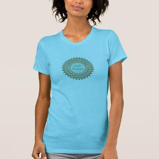 Turquoise Brown Zigzag Starburst Tee Shirts