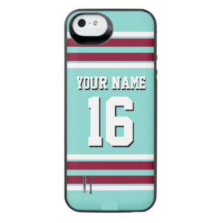Turquoise Burgundy Team Jersey Custom Number Name