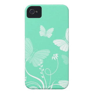 Turquoise butterflies BlackBerry Bold Case iPhone 4 Cover